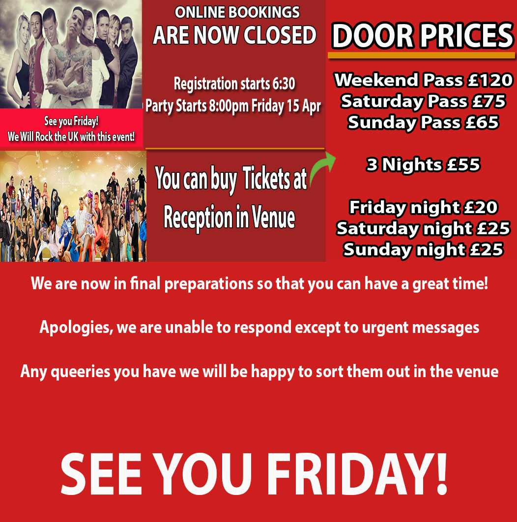 Book night tickets Teesside UK Salsa Congress